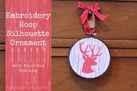 embroidery hoop ornament with free motion faux bois skip to my lou