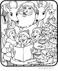holly jolly christmas color christmas coloring pages