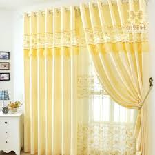 pale yellow curtains and drapes decorate the house with