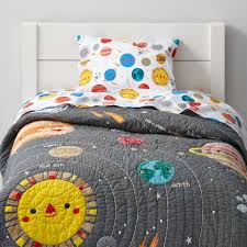 Spaceship Crib Bedding by Deep Space Toddler Bedding The Land Of Nod