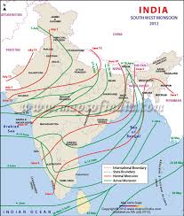 map of southwest india south monsoon in 2012 advance of southwest monsoon 2012
