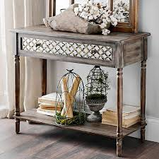 distressed white console table mellie distressed white console table kirklands brandys decor