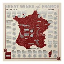 Alsace France Map by French Wine Poster 33 Books Co