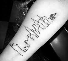 tattoo pictures of new york 70 city skyline tattoo designs for men downtown ink ideas