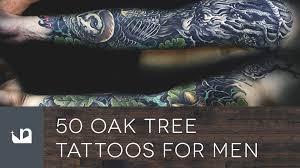 50 oak tree tattoos for