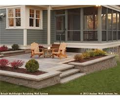 Best Raised Patio Ideas On Pinterest Retaining Wall Patio - Patio wall design