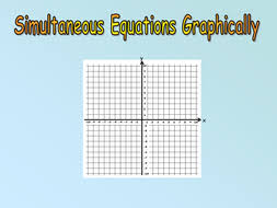 simultaneous equations graphically by owen134866 teaching