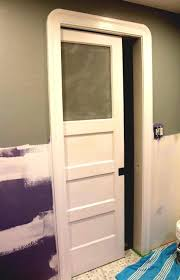 Interior Door Frames Home Depot by Frosted Pocket Bathroom Doors