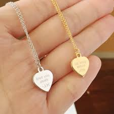 custom engraved heart necklace custom engraved necklace engraved heart necklace