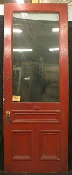 Exterior Pine Doors 36 X95 Antique Exterior Entry Pine Door Large Wavy Glass Lite