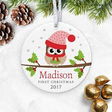 amazon com personalized baby u0027s 1st christmas ornament 2017 my