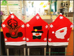 snowman chair covers fancy snowman reindeer santa claus design felt christmas chair