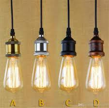 Retro Pendant Light Shades Pendant Lights Brass Chrome Silver Black Rustic E27 Aluminum