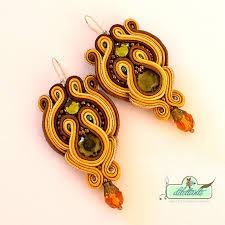 soutache earrings soutache earrings by dilettantesoutache on deviantart