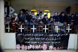 isis christians mourn their relatives beheaded in libya