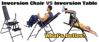 Exercise Upside Down Chair Inversion Chair Vs Table What U0027s Better