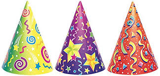 party hats fancy party hats assorted 6ct kitchen dining
