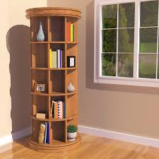 Woodworking Bookshelf Plans by Rotating Bookcase Plans Pdf Woodworking Swivel Bookcase Home Vid