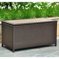 wicker storage bench best selling home brown in gallon ottoman