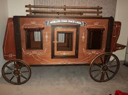 Cowboy Bunk Beds Vintage Orig Size Overland Express Stagecoach Western Theme