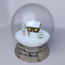 snow globe by mychaosdesign 3docean