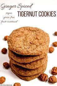 ginger soft baked ginger spiced tigernut cookies vegan grain free
