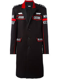 ktz hoodies cheap ktz patched military coat black red men