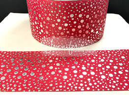 pink polka dot ribbon 3 ribbon foil dots ribbon cheer bow ribbon cheer ribbon polka