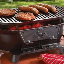 Backyard Classic Professional Charcoal Grill by Lodge Sportsman Hibachi Charcoal Grill L410 Cast Iron Cooking
