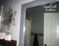 Bathroom Mirror Frames by Diy Bathroom Mirror Frame Sawdust Sisters