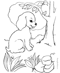 free printable coloring pages dogs coloring