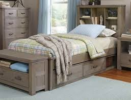 Bookcase Bed Frame Kenwood Bookcase Bed In Driftwood Kids Furniture In Los Angeles