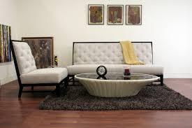 baxton studio bristol tufted gray linen modern sofa set