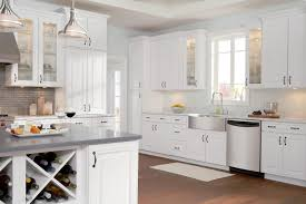 Kitchen Cabinet Builders Interior Small Kitchen Design With White Timberlake Cabinets And
