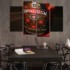 regal home decor canvas painting 4 piece canvas art chivas regal whiskey hd printed