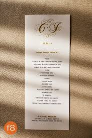 In Memory Of Wedding Program Fly Me To The Moon October 2014