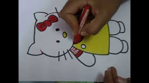 easy drawing kids draw kitty simple steps