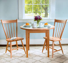 3 round shaker tables that are perfect for small kitchens