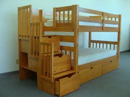kids room modern twin futon bunk bed with table and trundle bunk
