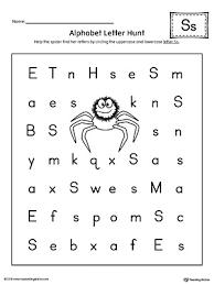 alphabet letter hunt letter s worksheet myteachingstation com