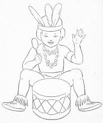 american indian coloring pages little indians to color thema indianen kleuters native