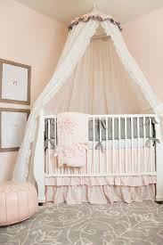 light pink crib bedding pink nursery design with caddy corner crib and tulle canopy