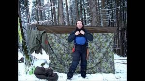 alpine winter hammock the solo girly bushcraft way youtube