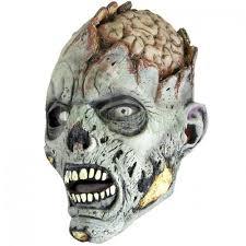 Zombie Mask Open Brain Zombie Mask Frightprops Com