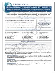 cfo resume exles nominated executive resume sle finance elizabeth