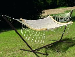 Hammock With Wooden Stand Wooden Curved Arc Hammock Stand With Cotton Outdoor Garden