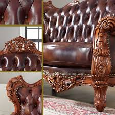 Leather Sofa Wooden Frame Indian Genuine Leather Sofas Sofa Set Classic Wood Frame Leather