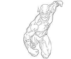flash running free coloring u2022 kids superheros coloring pages