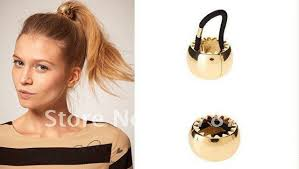 hair cuff wholesale rock 2 colors gold silver metal circle ring hair