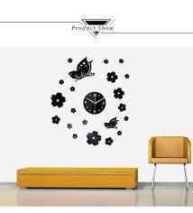 3d diy wall clock mini modern wall sticker design livingroom home creative crystal solid mirror wall clock stickers home tv background decor